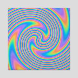 Colorful Swirl Design. Queen Duvet