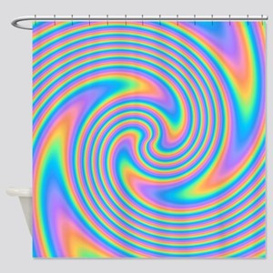 Colorful Swirl Design. Shower Curtain