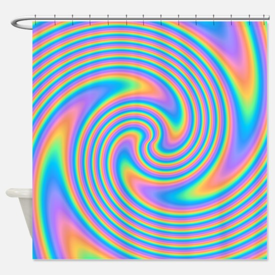 Colorful Swirl Design. Shower Curtain