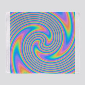 Colorful Swirl Design. Throw Blanket