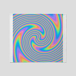 Colorful Swirl Design. Throw Blanket