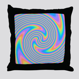 Colorful Swirl Design. Throw Pillow