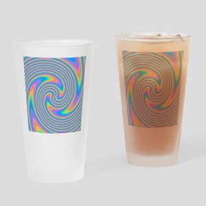Colorful Swirl Design. Drinking Glass