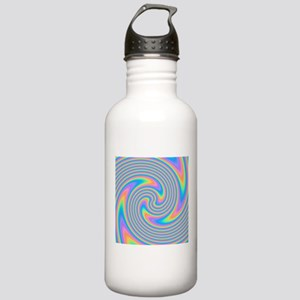 Colorful Swirl Design. Water Bottle