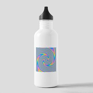 Colorful Swirl Design. Water Bottle
