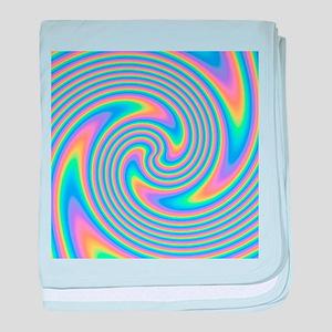 Colorful Swirl Design. baby blanket