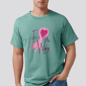I Heart/Support My Wife Mens Comfort Colors Shirt