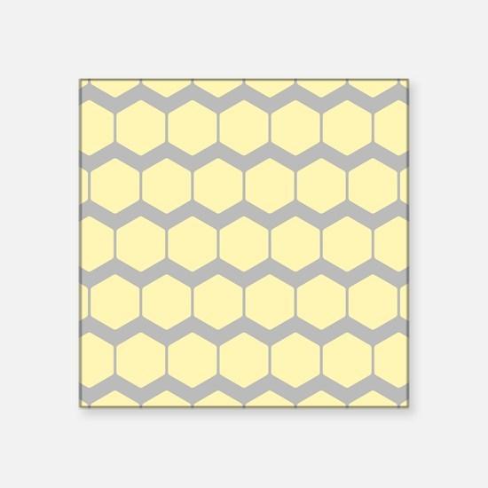 Yellow and Gray Pattern. Sticker