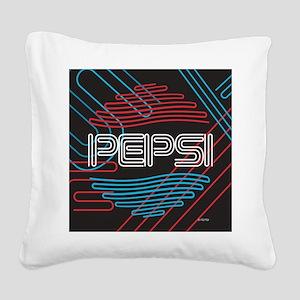 Pepsi Neon Square Canvas Pillow