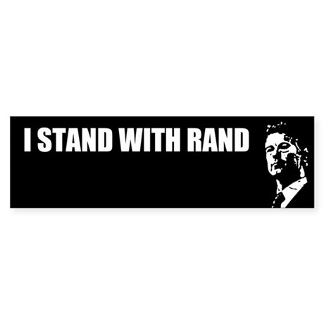 I Stand With Rand Full Bumper Sticker