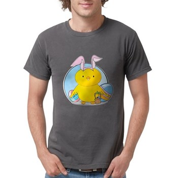 Easter Bunny Chick Mens Comfort Colors Shirt