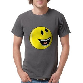 Smiley Face - Looking Up/Left Mens Comfort Colors