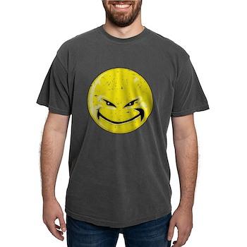 Smiley Face - Distressed Devi Mens Comfort Colors