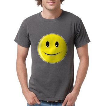Smiley Face - Happy Smile Mens Comfort Colors Shir