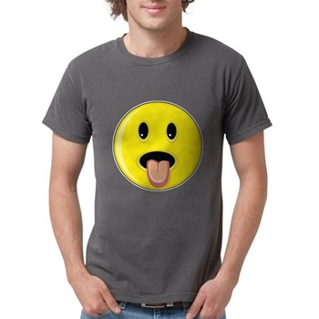 Smiley Face - Tongue Out Mens Comfort Colors Shirt