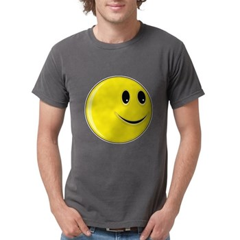 Smiley Face - Looking Left Mens Comfort Colors Shi