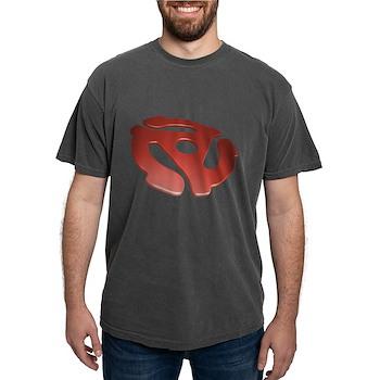 Red 3D 45 RPM Adapter Mens Comfort Colors Shirt