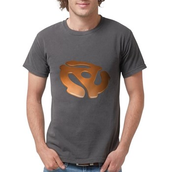Orange 3D 45 RPM Adapter Mens Comfort Colors Shirt