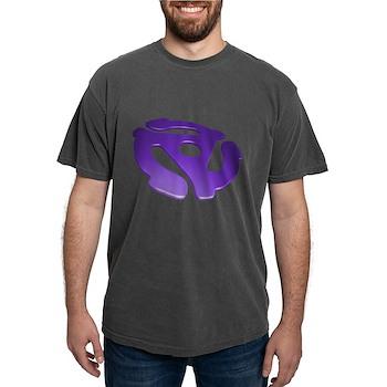 Purple 3D 45 RPM Adapter Mens Comfort Colors Shirt