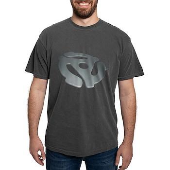 Silver 3D 45 RPM Adapter Mens Comfort Colors Shirt