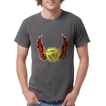 Red Winged 45 RPM Adap Mens Comfort Colors Shirt