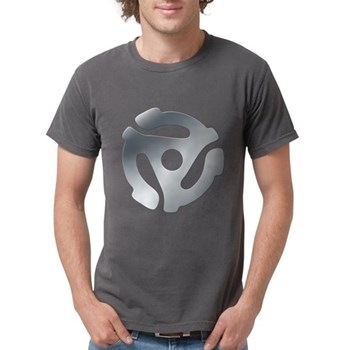 Silver 45 RPM Adapter Mens Comfort Colors Shirt