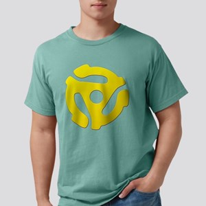 Yellow 45 RPM Adapter Mens Comfort Colors Shirt