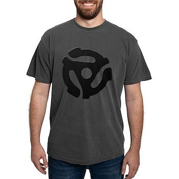 Black 45 RPM Adapter Mens Comfort Colors Shirt