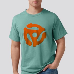 Orange 45 RPM Adapter Mens Comfort Colors Shirt