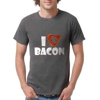 I Heart Bacon Mens Comfort Colors Shirt
