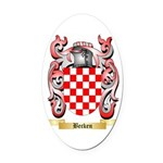Becken Oval Car Magnet
