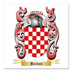 Becken Square Car Magnet 3