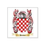 Becken Square Sticker 3