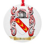 Becke Round Ornament