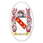 Becke Sticker (Oval 10 pk)