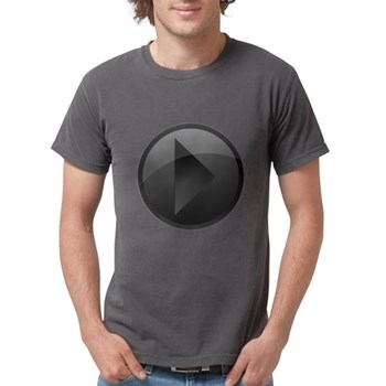 Play Button Mens Comfort Colors Shirt