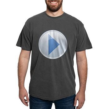 Play Button Mens Comfort Colors Shirt
