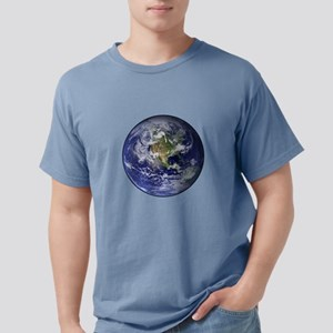 Western Earth from Space Mens Comfort Colors Shirt