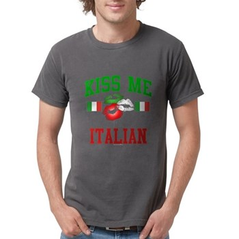 Kiss Me I'm Italian Mens Comfort Colors Shirt