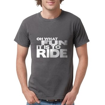 Oh What Fun It Is to Ride Mens Comfort Colors Shir