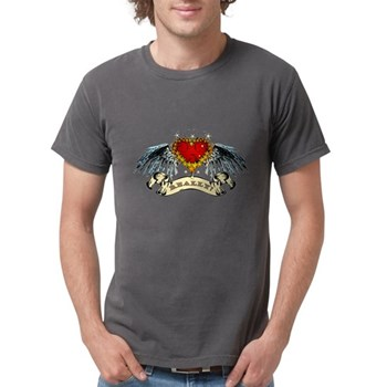 Really? Winged Heart Mens Comfort Colors Shirt