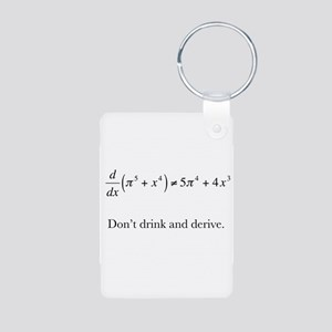 Dont drink and derive Keychains