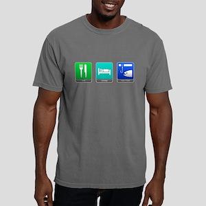 Eat, Sleep, Ice Fish Mens Comfort Colors Shirt