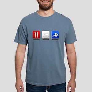 Eat, Sleep, Swim Mens Comfort Colors Shirt