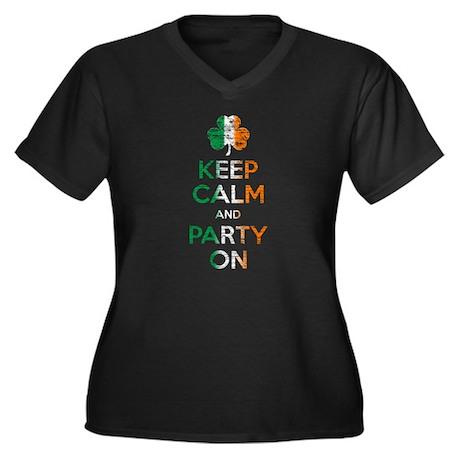 Keep Calm And Party On Irish Flag Shamrock Plus Si