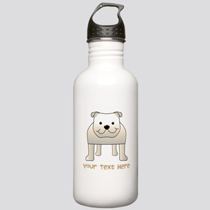 Bulldog and Text. Water Bottle