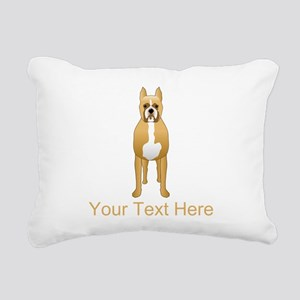 Boxer Dog and Custom Text. Rectangular Canvas Pill