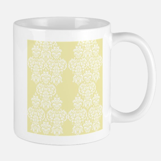 Yellow Damask Mug