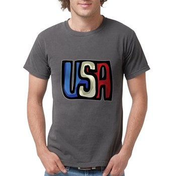 Red, White and Blue USA Mens Comfort Colors Shirt