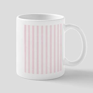 Shabby Pink White Stripes Mug
